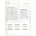 "Collegiate Letter ""R"" Chocolate Mold THUMBNAIL"