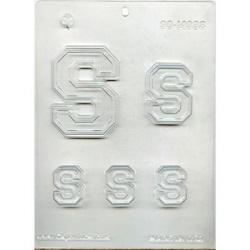 "Collegiate Letter ""S"" Chocolate Mold_LARGE"