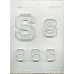 "Collegiate Letter ""S"" Chocolate Mold THUMBNAIL"