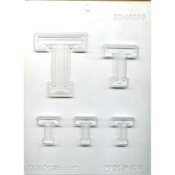 "Collegiate Letter ""T"" Chocolate Mold LARGE"