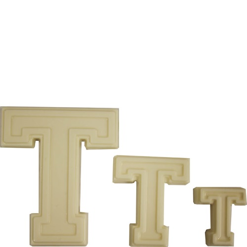 "Collegiate Letter ""T"" Chocolate Mold THUMBNAIL"