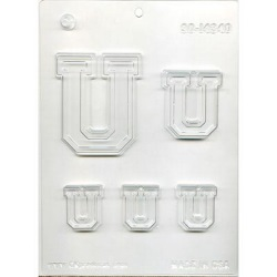 "Collegiate Letter ""U"" Chocolate Mold LARGE"