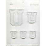 "Collegiate Letter ""U"" Chocolate Mold THUMBNAIL"