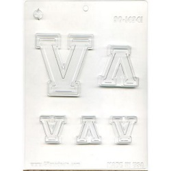 "Collegiate Letter ""V"" Chocolate Mold LARGE"