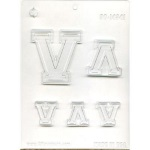 "Collegiate Letter ""V"" Chocolate Mold THUMBNAIL"