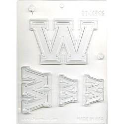 "Collegiate Letter ""W"" Chocolate Mold LARGE"