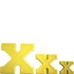 "Collegiate Letter ""X"" Chocolate Mold THUMBNAIL"