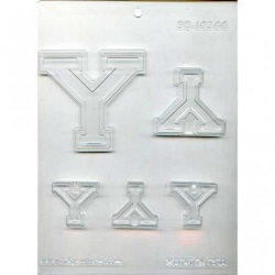 "Collegiate Letter ""Y"" Chocolate Mold LARGE"