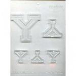 "Collegiate Letter ""Y"" Chocolate Mold THUMBNAIL"