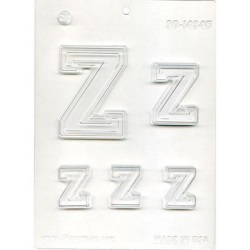 "Collegiate Letter ""Z"" Chocolate Mold LARGE"