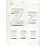 "Collegiate Letter ""Z"" Chocolate Mold THUMBNAIL"