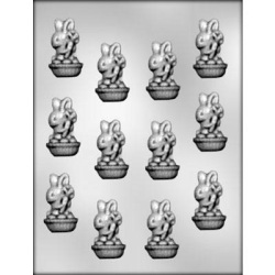 Bunny w/Carrot Chocolate Mold - 2 1/8""