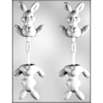 Sitting Bunny Chocolate Sucker Mold - 3D THUMBNAIL