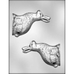 "Sideview Bunny Chocolate Mold - 5"" - 3D"