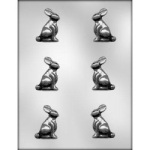 "Bunny Chocolate Mold - 2"" - 3D"