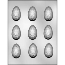 Floral Eggs Chocolate Mold - 3D_LARGE