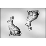 "Sideview Bunny Chocolate Mold - 8"" - 3D"
