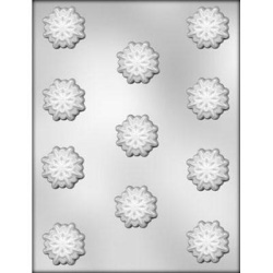"Snowflake Chocolate Mold - 1-3/8"" LARGE"