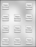 Happy Holidays on Square Mold