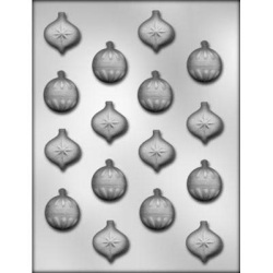Christmas Ornaments Chocolate Mold - 1""