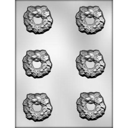 Holly Wreath Candy Mold LARGE