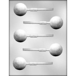 "Golf Ball Chocolate Sucker Mold - 1-5/8"" THUMBNAIL"