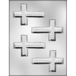 "Textured Cross Chocolate Mold - 3-3/4"" LARGE"