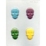 Day of  the Dead Skulls Chocolate Mold THUMBNAIL