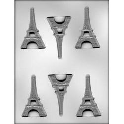 "3"" Flat Eiffel Tower Chocolate Mold LARGE"