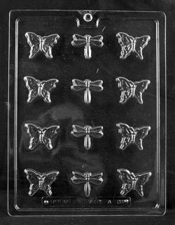 Butterflies & Dragonflies Chocolate Mold LARGE