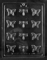 Butterflies & Dragonflies Chocolate Mold THUMBNAIL