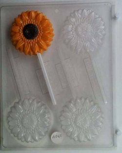 Sunflower Chocolate Sucker Mold LARGE