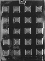 Traditional Square Chocolate Mold THUMBNAIL