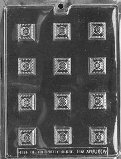 Fancy Squares Chocolate Mold LARGE