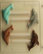 Dolphin Chocolate Sucker Mold