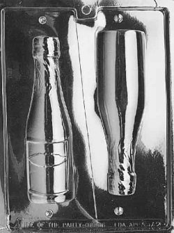Champagne Bottle Chocolate Mold - Large LARGE
