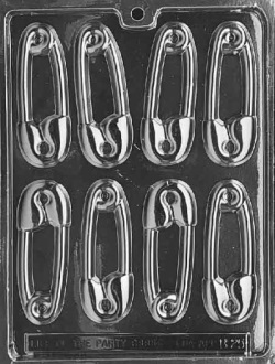 Diaper Pin Chocolate Mold LARGE