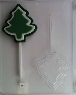 Tri-Level Christmas Tree Chocolate Sucker Mold LARGE