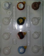 "Assorted Bite-Size Ornaments Chocolate Mold - 1-5/8""_THUMBNAIL"