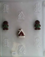 Gingerbread People & House Chocolate Mold THUMBNAIL