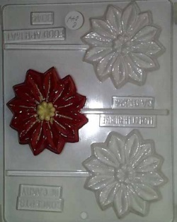 Medium Poinsettia Chocolate Sucker Mold LARGE