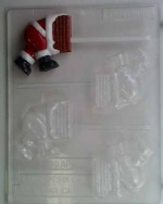 Santa Stuck in Chimney Chocolate Sucker Mold