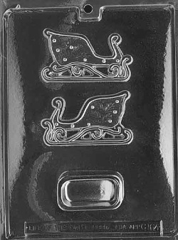 Small Sleigh Pour Box Chocolate Mold_LARGE