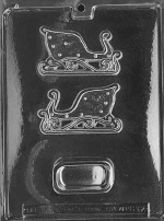 Small Sleigh Pour Box Chocolate Mold
