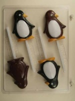 Penguins Chocolate Sucker Mold THUMBNAIL