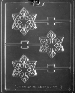 Snowflake Geo Chocolate Sucker Mold LARGE