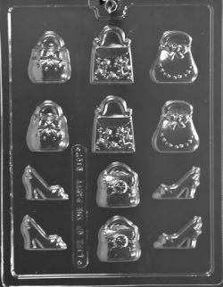 Small Purses and Shoes Chocolate Mold