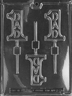#1 Dad Chocolate Sucker Mold