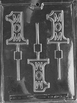 #1 Mom Chocolate Sucker Mold