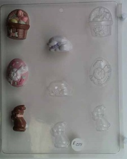 Mixed Small Easter Mints Chocolate Mold